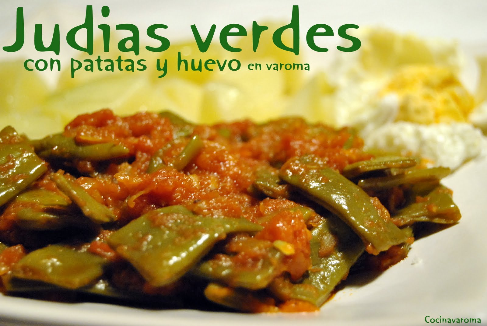 Cocina varoma judias verdes con tomate recipiente varoma si se quiere - Tiempo coccion judias verdes ...