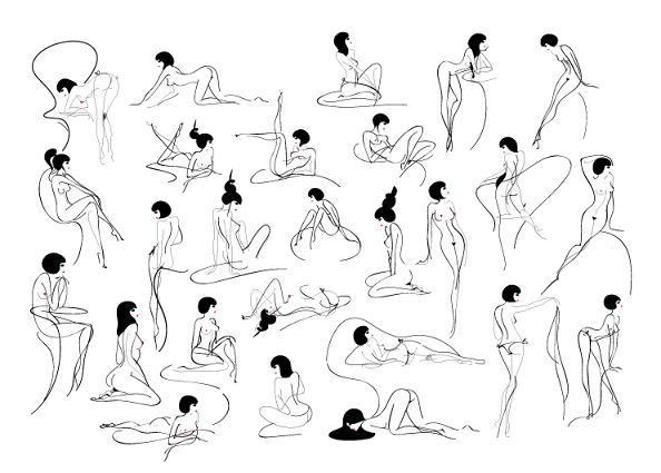 alfabeto sexy lésbicas mulheres