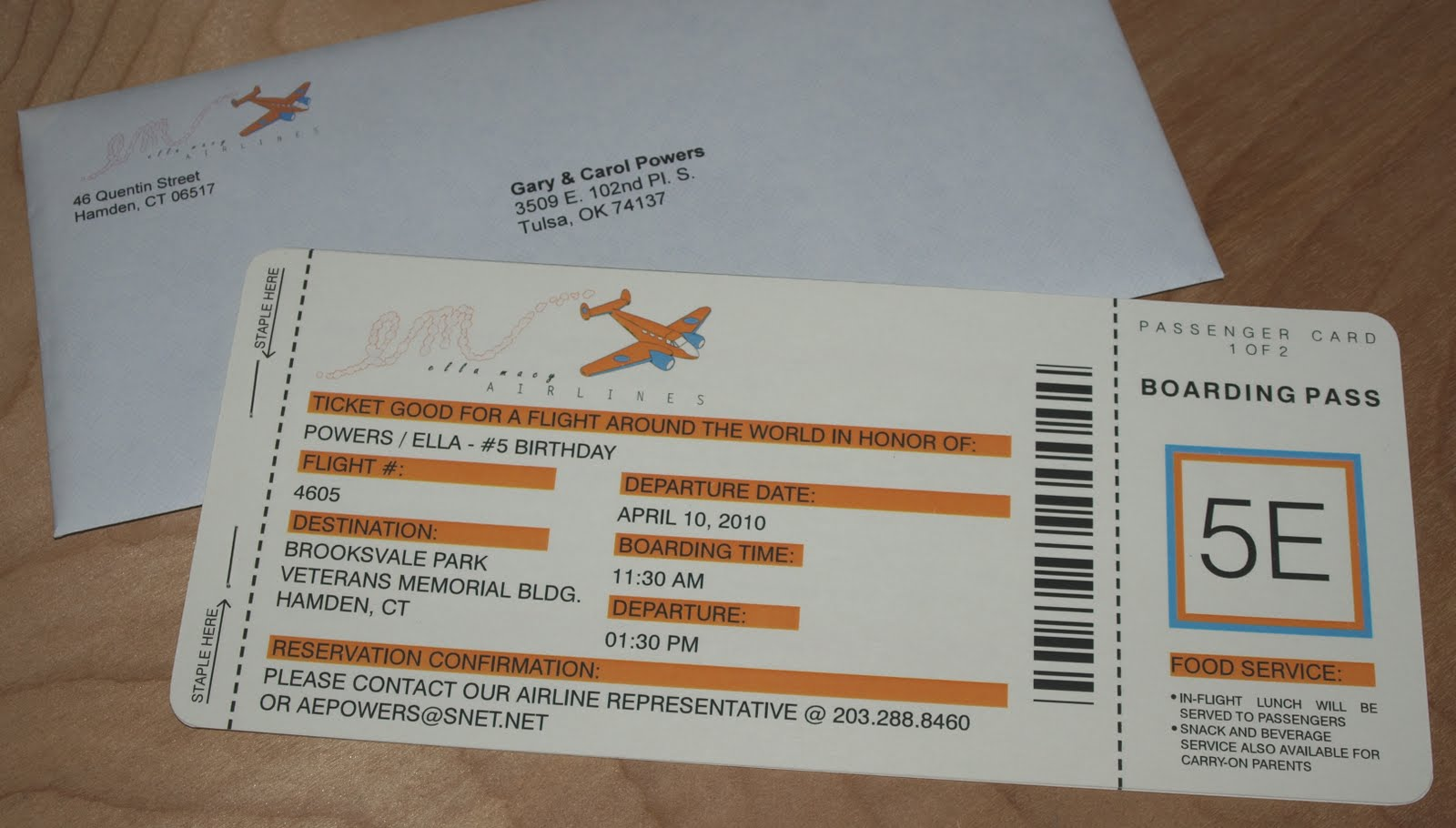 a party style around the world party invitiations – Airline Ticket Birthday Invitations