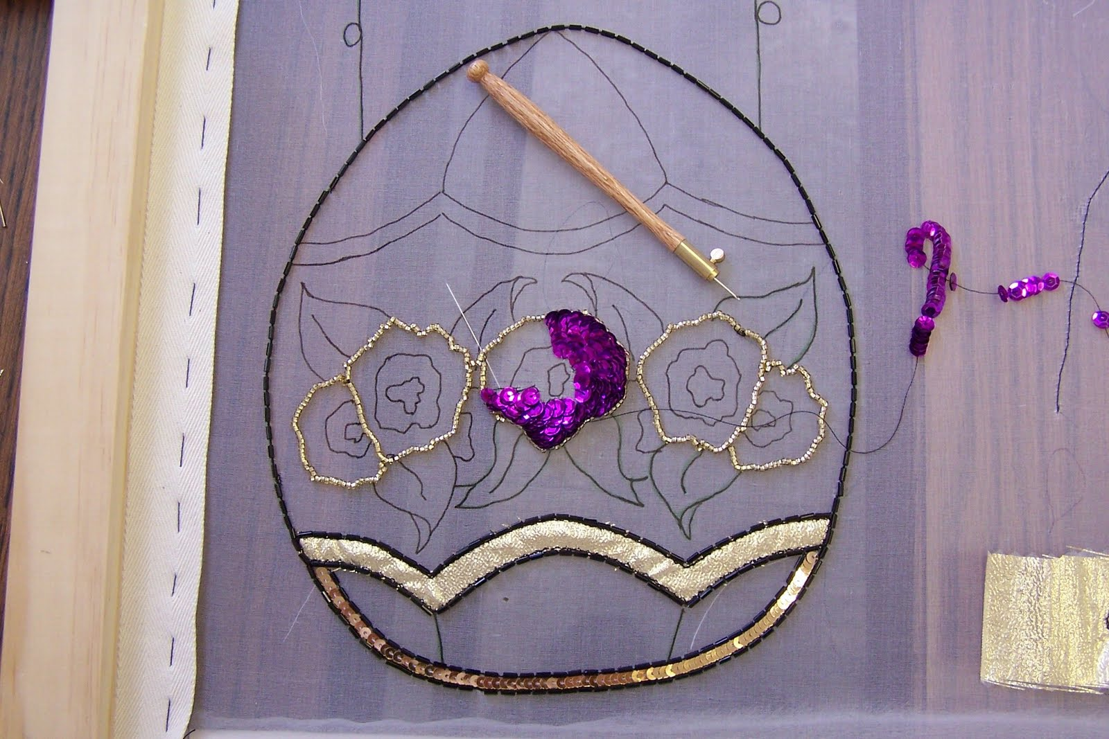 Jennifer Stumpf Tambour Bead Embroidery