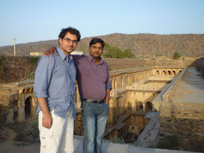 Cameron and Karam next to an underground corridor leading to the local fort, near Karam's village