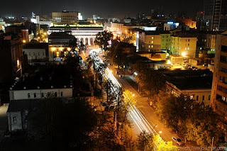 Ekaterinburg night street picture