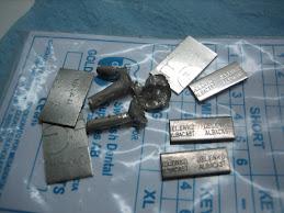 pastillas de plata paladio que se ocupan en el laboratorio