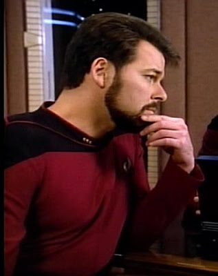Captain William T Riker A Male Human With Full Beard