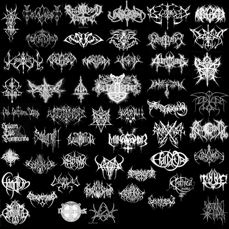 Indecipherable Death Metal Band Logos | BAZOOKALUCA