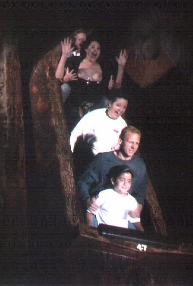 Boob flashing on a rollercoaster diagnosis