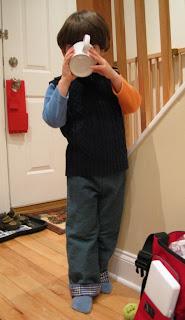 Oğlum için kolay pantolon