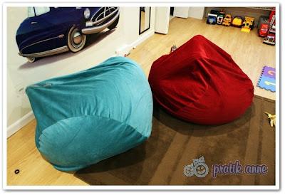 Proje 1 – Okuma köşesi için minder koltuk (bean bag chair)