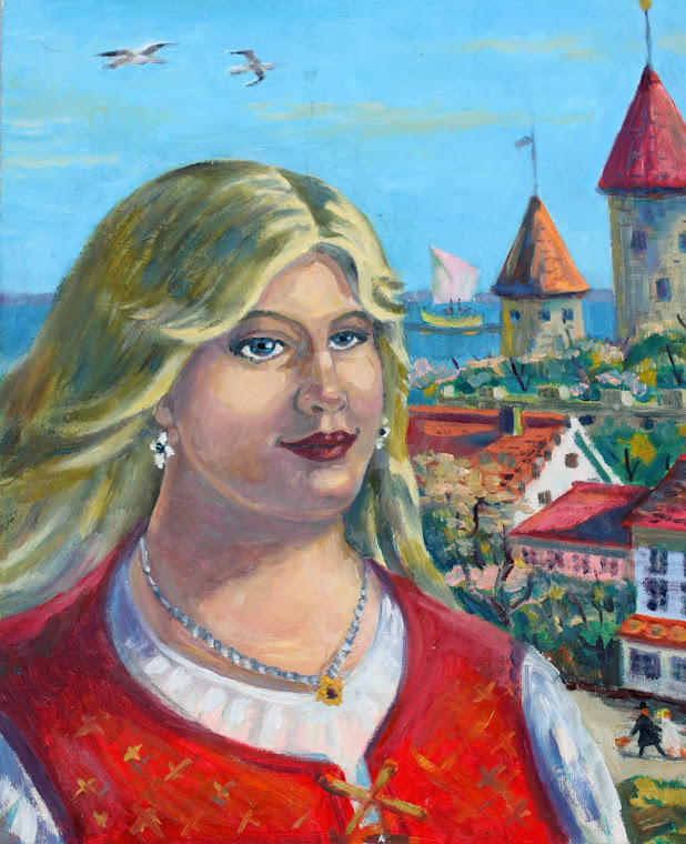 13.Old Town woman,oil on canvas,46x38,Estonia 2009