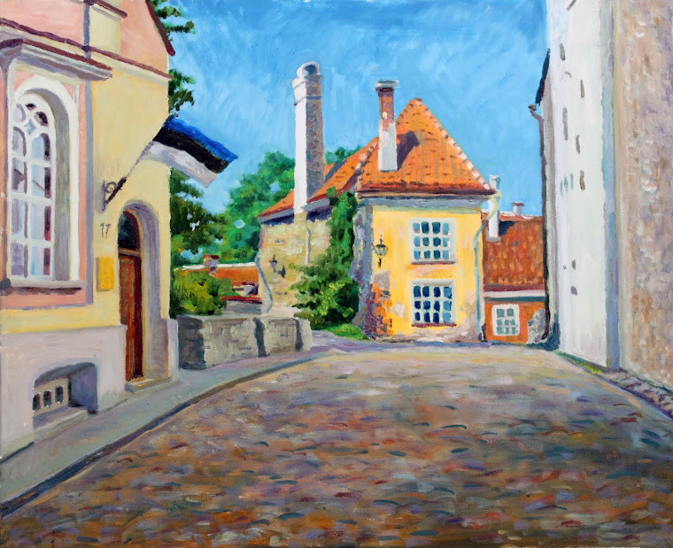 9.Ancient house in Old Town,oil on canvas,55x46 cm,Estonia 2009