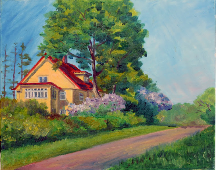 5.House at Kadriorg Park,oil on canvas,46x38cm,Estonia 2009