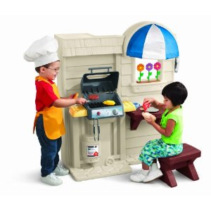 kitchen play set little tikes inside outside cook n grill kitchen