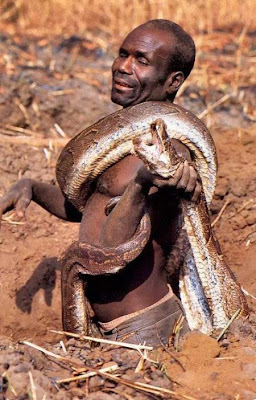 Barefoot Tribal Anaconda Hunters