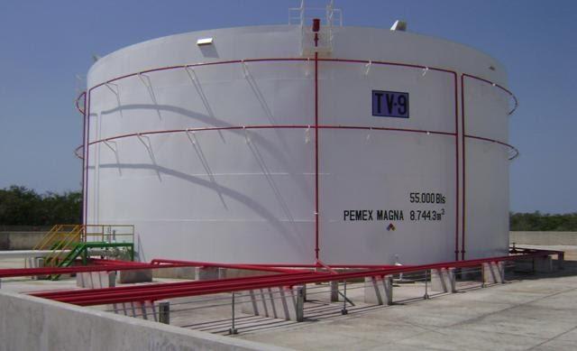 Opci n la revista pone pemex en operaciones tanque vertical for Tanques para cachamas