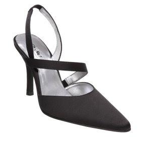 Mossimo® Heloise Satin Strap Heels - Black Women Dress Shoe