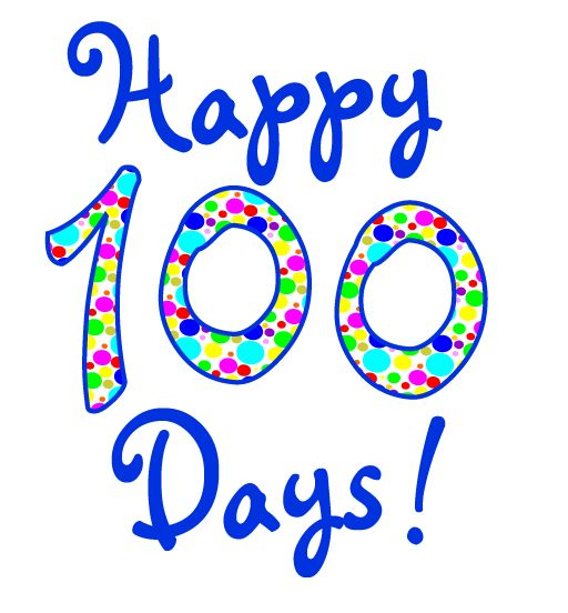 happy 100 days clipart graphic