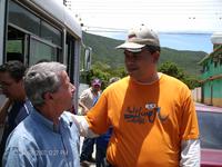Blas Rodríguez Alemán (Asesor Cubano) y el Prof.Roger Pereira Secretario Sectorial de Cultura.