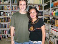 El escritor Argentino Emiliano Bustos, en la Librería del Sur  - La Victoria Municipio Ribas