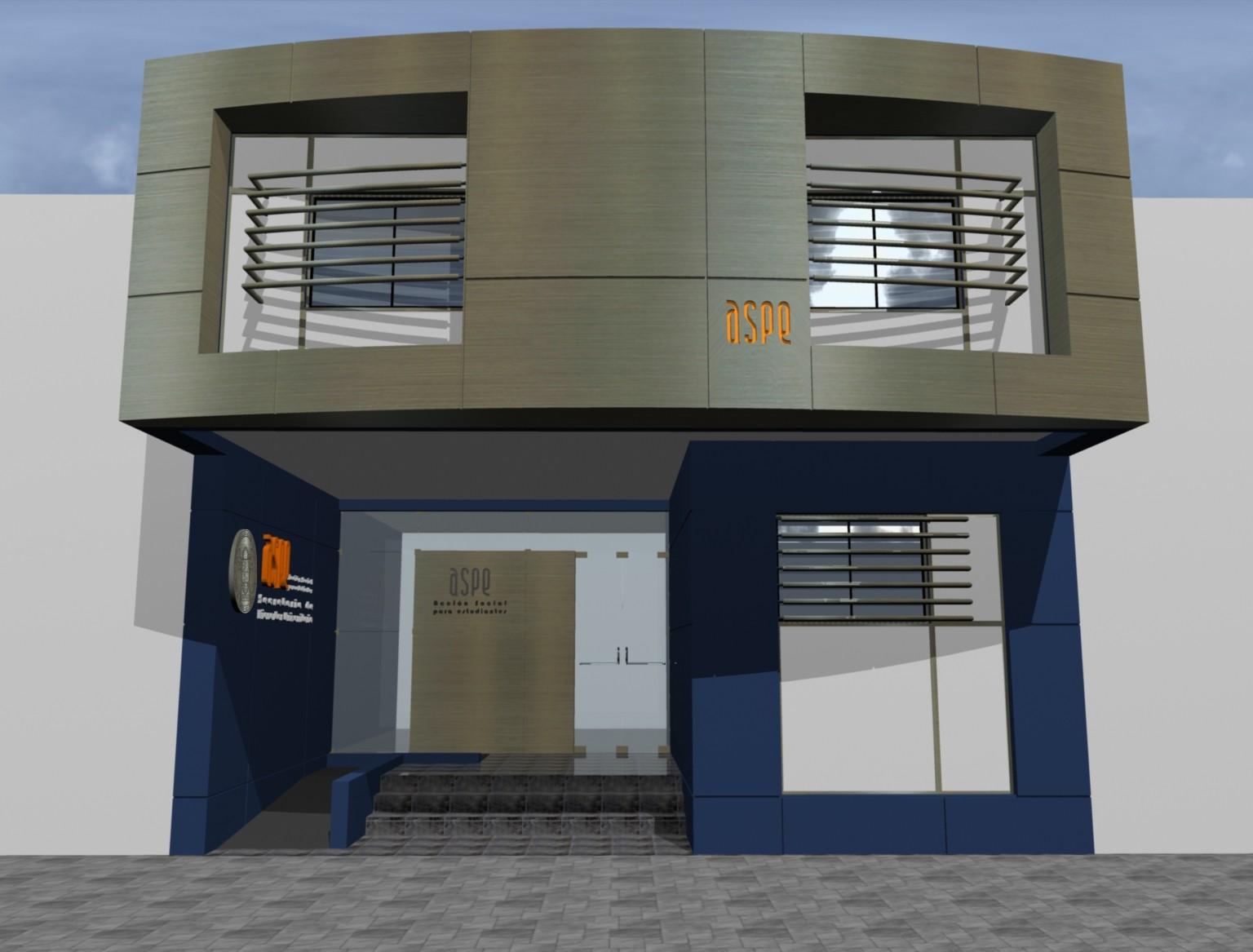 Amazing modelos de fachadas modernas para un local comercial Modelo de casa con local comercial
