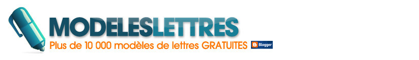 Modles de lettres gratuites !