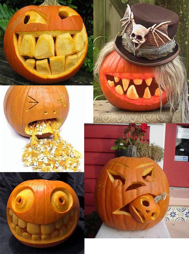 El cajn de Sofa El arte de tallar calabazas de Halloween