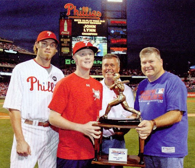 Bux-Mont Awards home run trophy with Philadelphia Phillies star outfielder Jason Werth