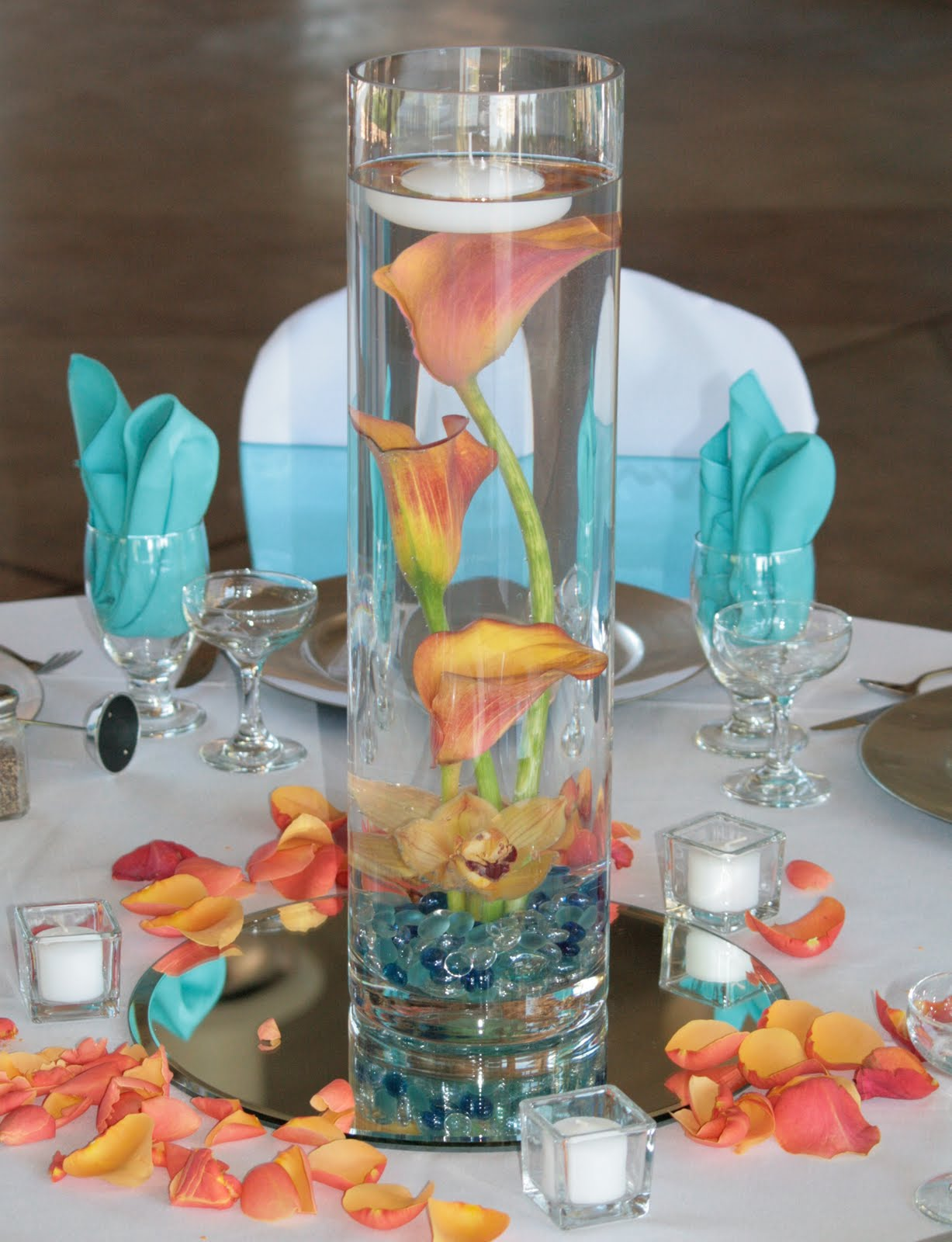 Wedding Table Turquoise Wedding Table Decorations similiar turquoise and coral flower centerpieces keywords wedding reception ideas