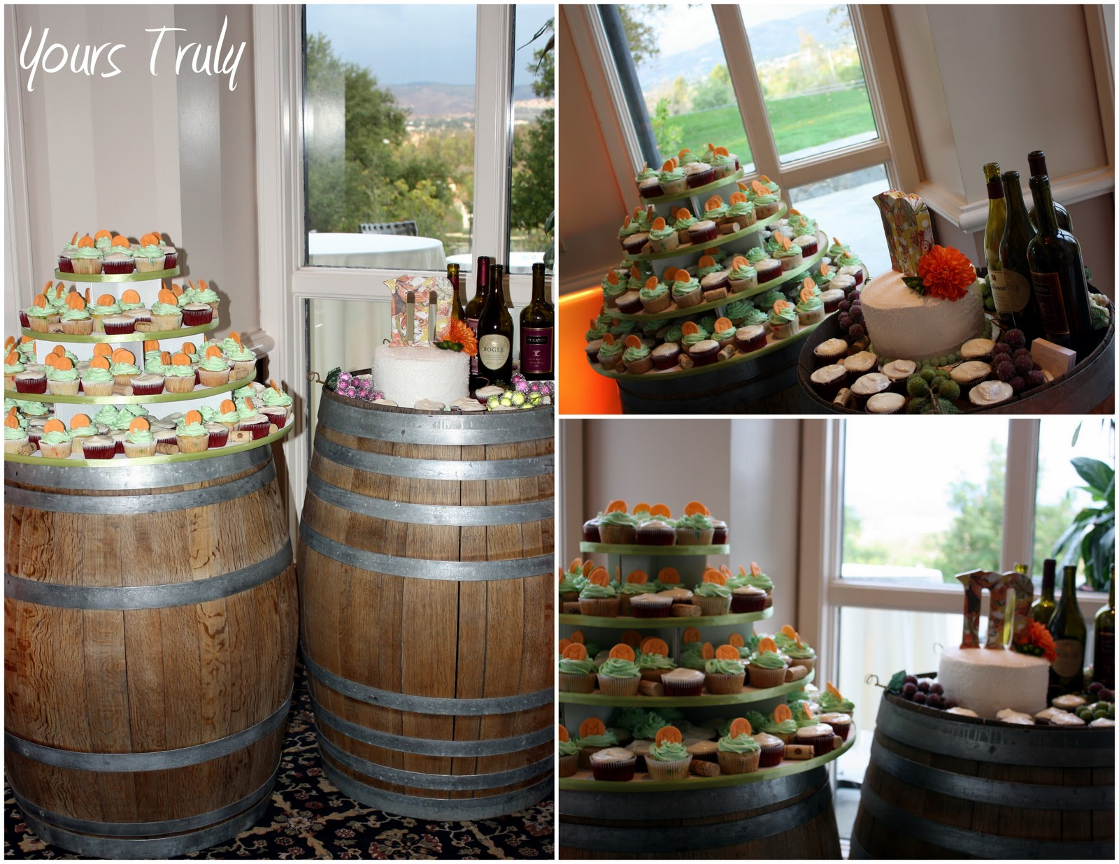 Yours Truly Wedding And Event Design Mittskus Wine Themed Cupcake