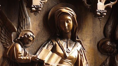 houtsnijwerk in de kerk van Zepperen