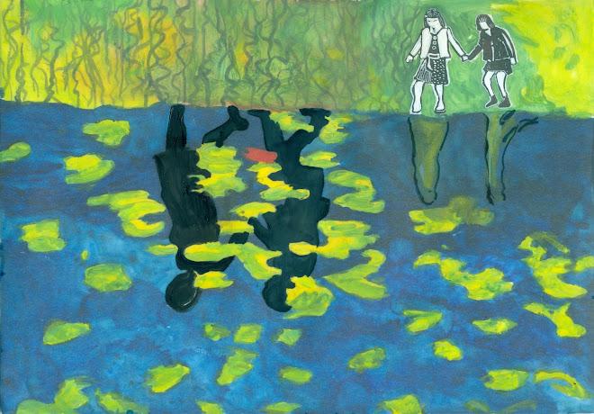 Y la busque bajo el lago, donde viven las raices de los lotos.