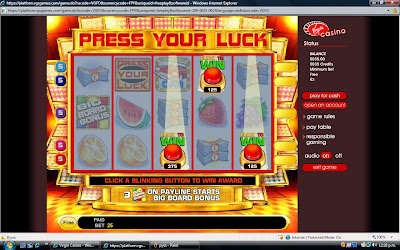 Press Your Luck at Virgin Casino