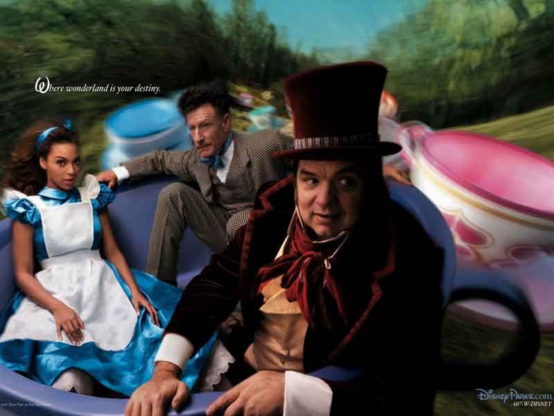 Disney's Alice in Wonderland which combined story elements from both Alice