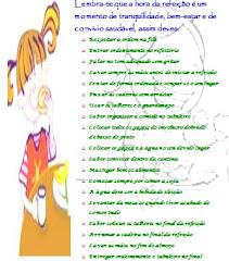 Regras da Cantina da Escola EB 2.3 de Caldas das Taipas