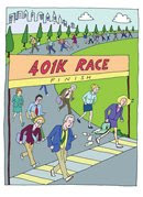 Far Gone Greetings 401k race card