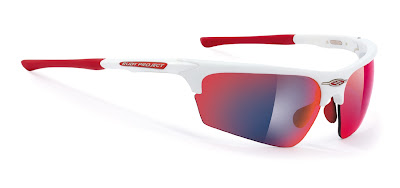 Rudy Project Noyz white multilaser red
