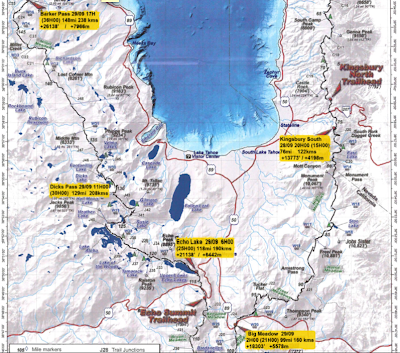 Kilian Jornet Tahoe Rim Trail second part map