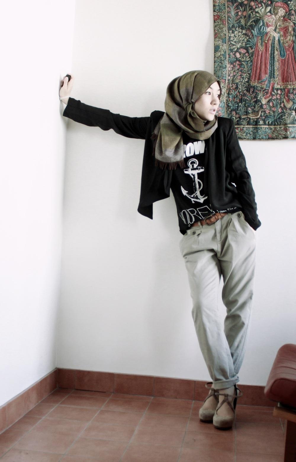 Aprilianworld hana tajima Hijab fashion style hana tajima