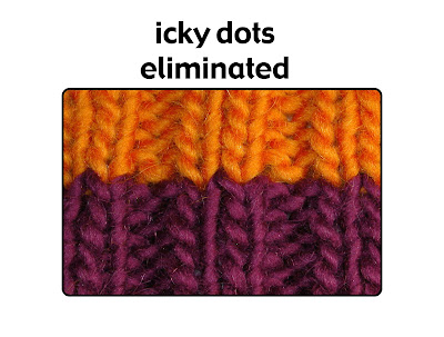 Color, texture and ribbing without the icky dots--a mystery of knitting, explained