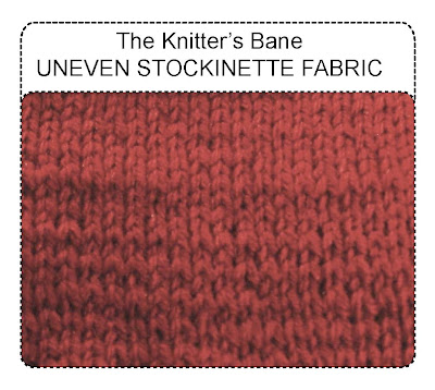 the knitter's bane--uneven stockinette fabric