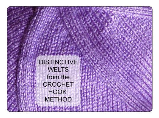 Knitting Decreases Slant Left : Techknitting the crochet hook method of left leaning