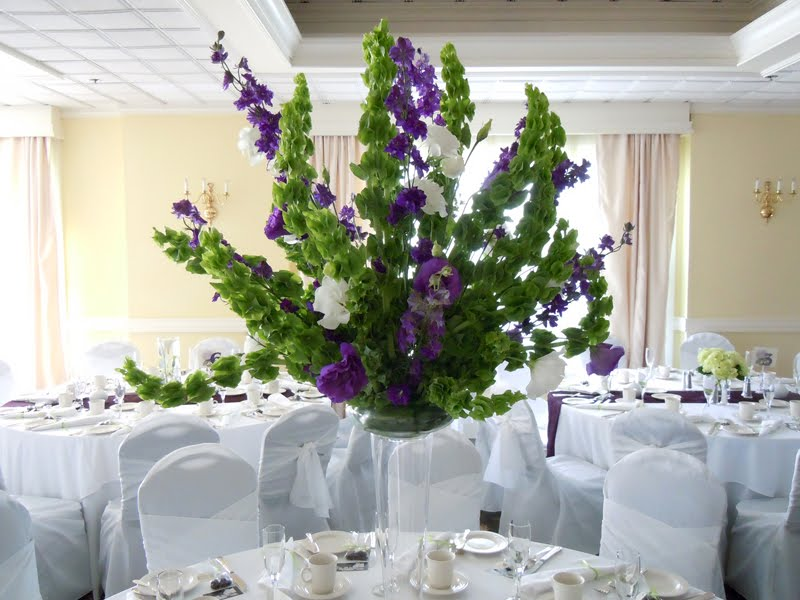 Wedding Flowers Katie and Andy's Purple and Green Ceremony and Reception
