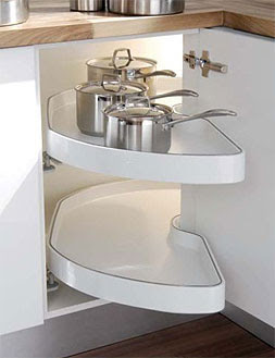 Hot in the kitchen kitchen corner unit storage maximise - Magic corner cabinet ...