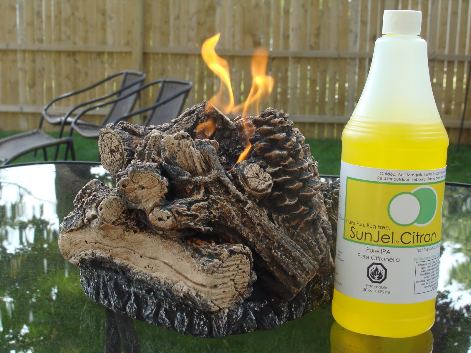 Gel Fuel Fire Bowls: Gel Fuel Fire Bowl, Log Style!