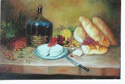 Composição com pães de Sonia Vrubleski.