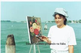Pintando flôres em Veneza, que chato né???