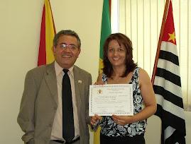 Sonia na Camara Municipal com o DD. Vereador Luiz Santos.