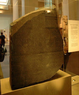 The Rosetta Stone is an Ancient Egyptian artifact which was instrumental in