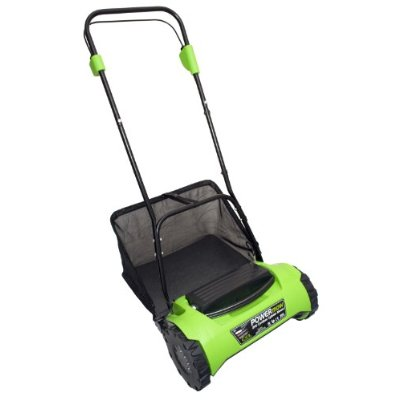 Cordless Electric Reel Lawn Mower with Grass Bag