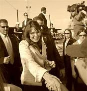 Republican vice presidential candidate, Alaska Gov., Sarah Palin, shakes hands with supporters at the conclusion of a campaign unity rally in O'Fallon, Mo., Sunday, Aug. 31, 2008.