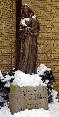 Our Lady of the Unborn, next to Sacred Heart Basilica at Notre Dame